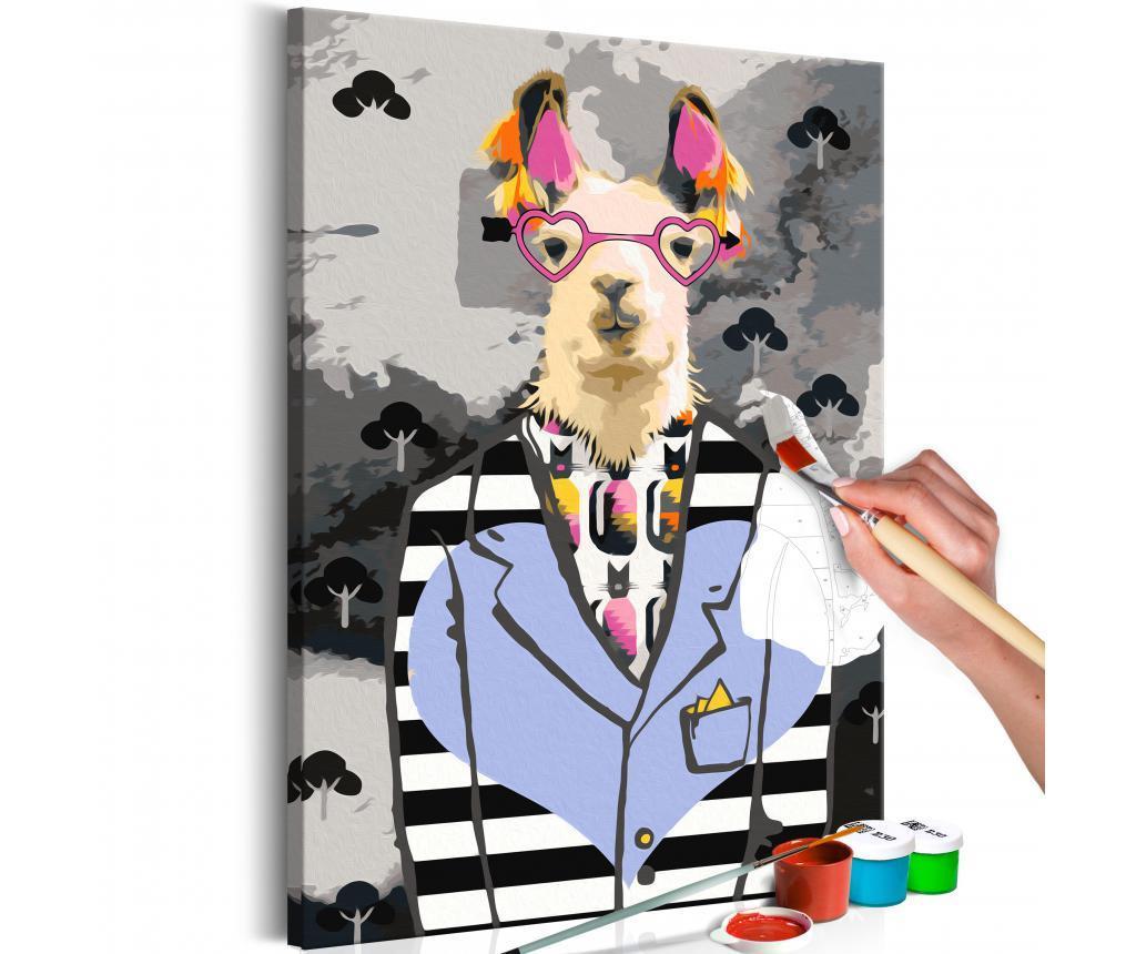 Crazy Alpaca DIY kanavász kép 40x60 cm