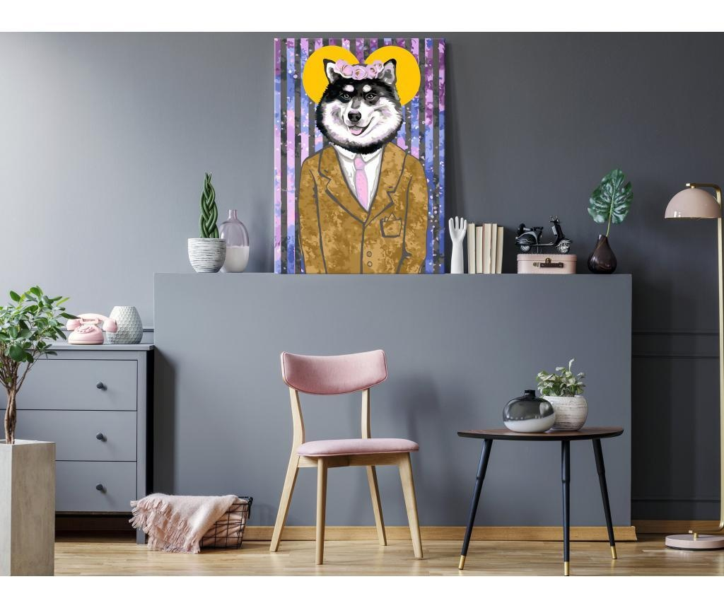 Dog in Suit DIY kanavász kép 40x60 cm