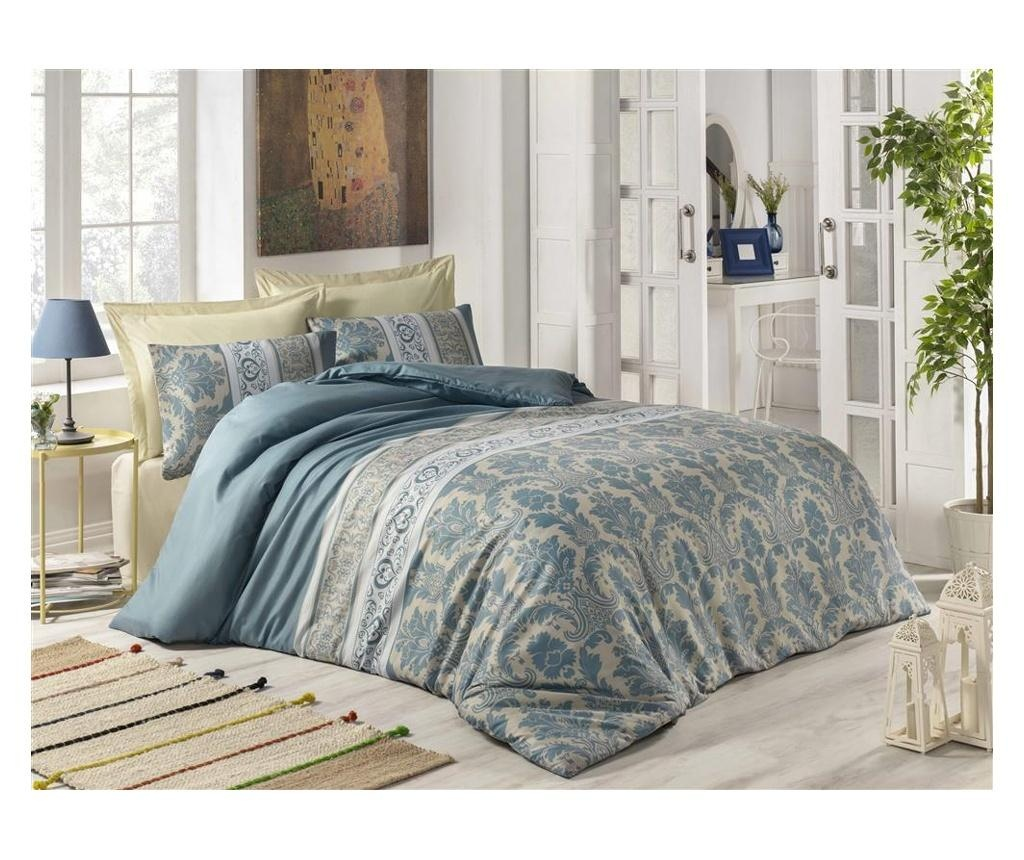 Set posteljina Double Ranforce Karen Turquoise