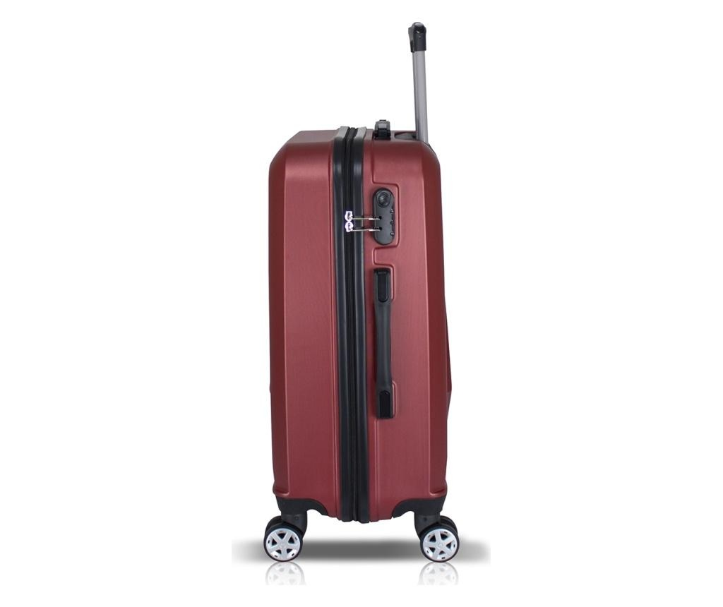 Diamond Claret Red 2 db Gurulós bőrönd