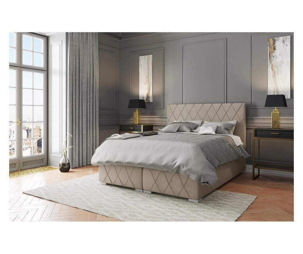 Boxspring krevet s prostorom za odlaganje Nantes Beige 180x200 cm