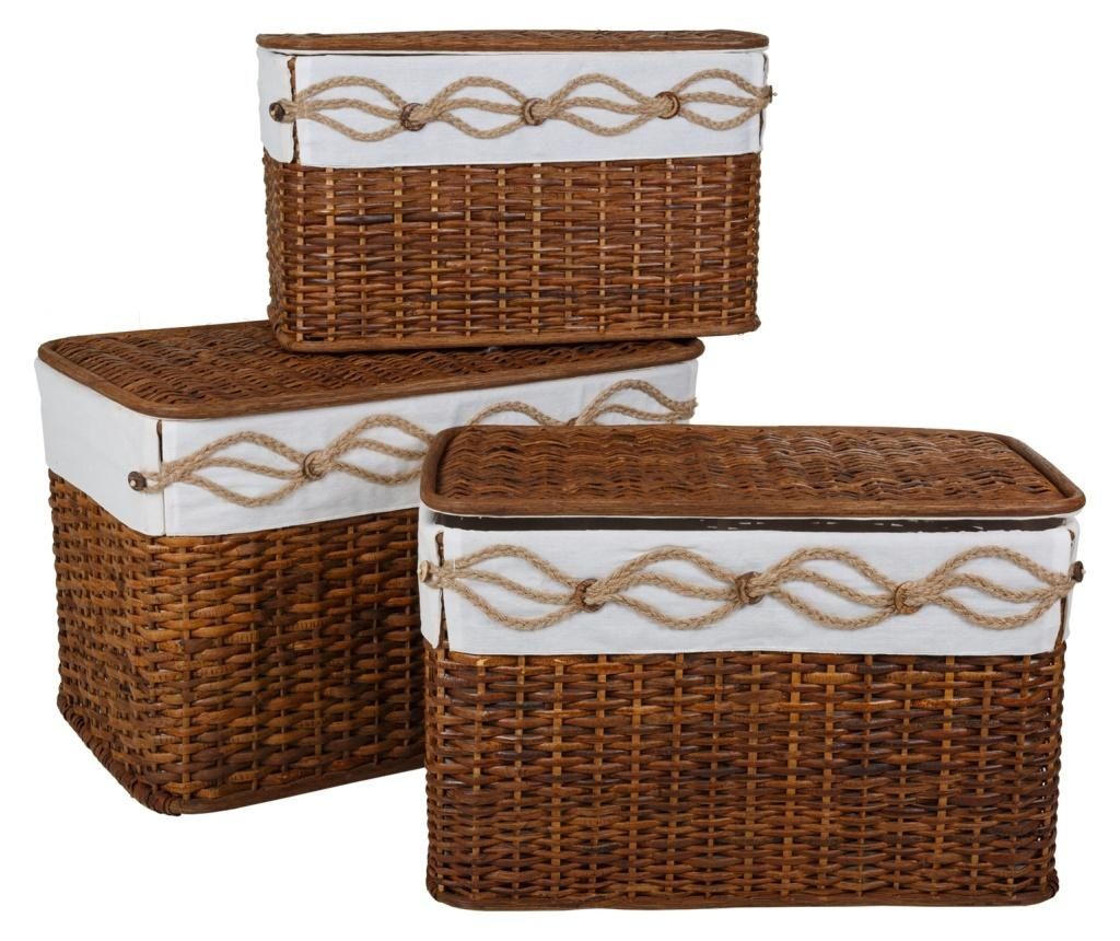 Set 3 košar Rustic Brown