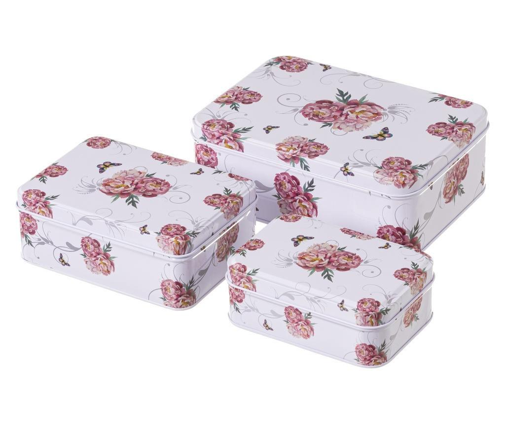 Set 3 cutii cu capac