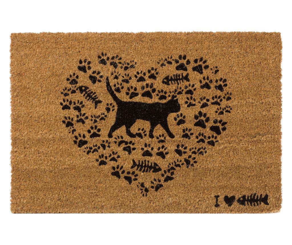 Love Cats Bejárati szőnyeg 40x60 cm