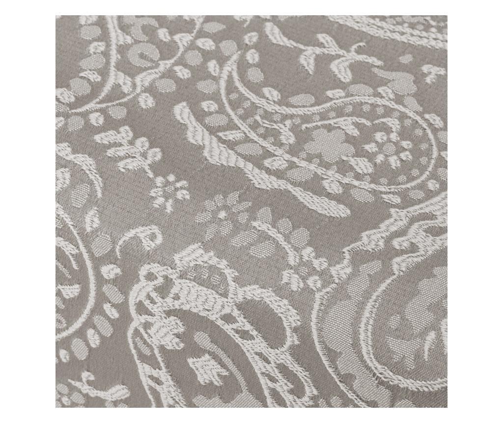 Nadstolnjak Kashmir Grey Silver 35x150 cm