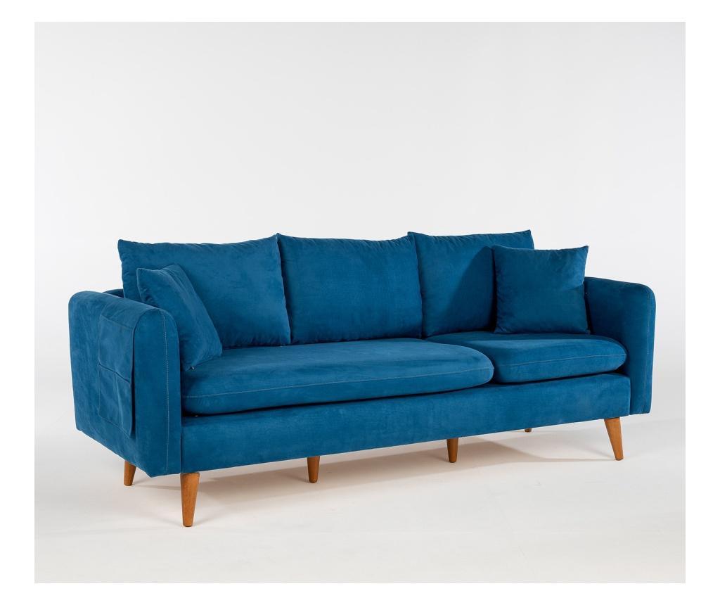 Canapea 3 locuri Dark Blue