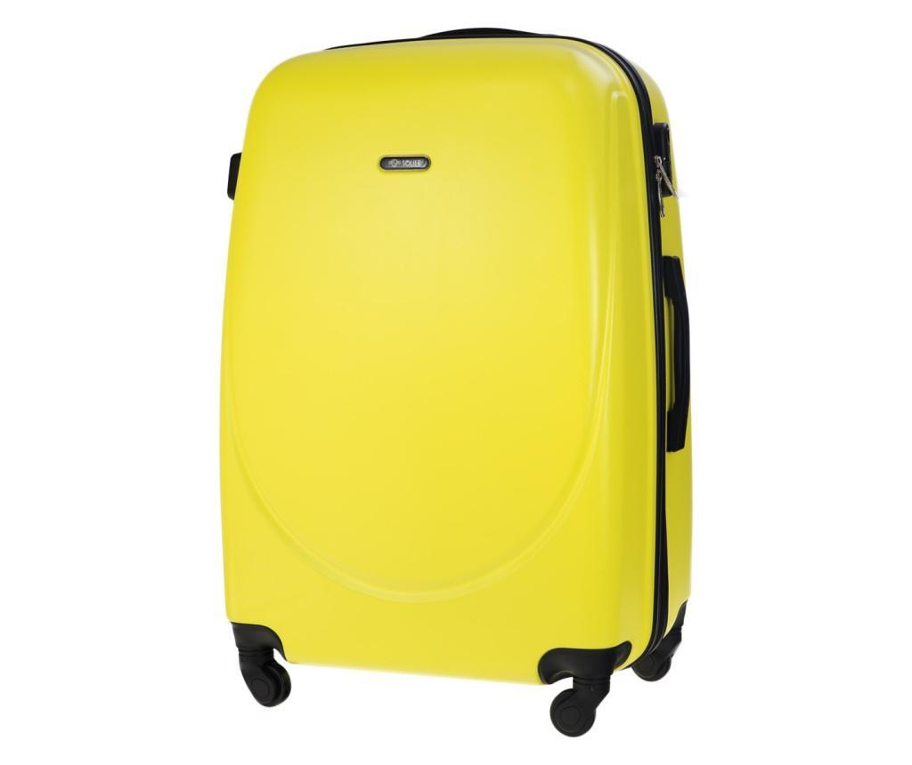 Kovček na kolesih Steady Yellow 78 L