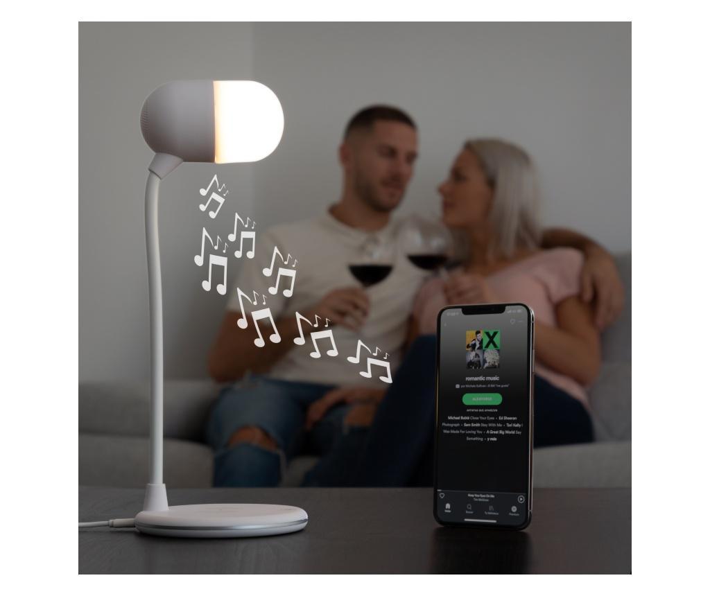 Svetilka z zvočnikom in brezžičnim polnilcem Akalamp