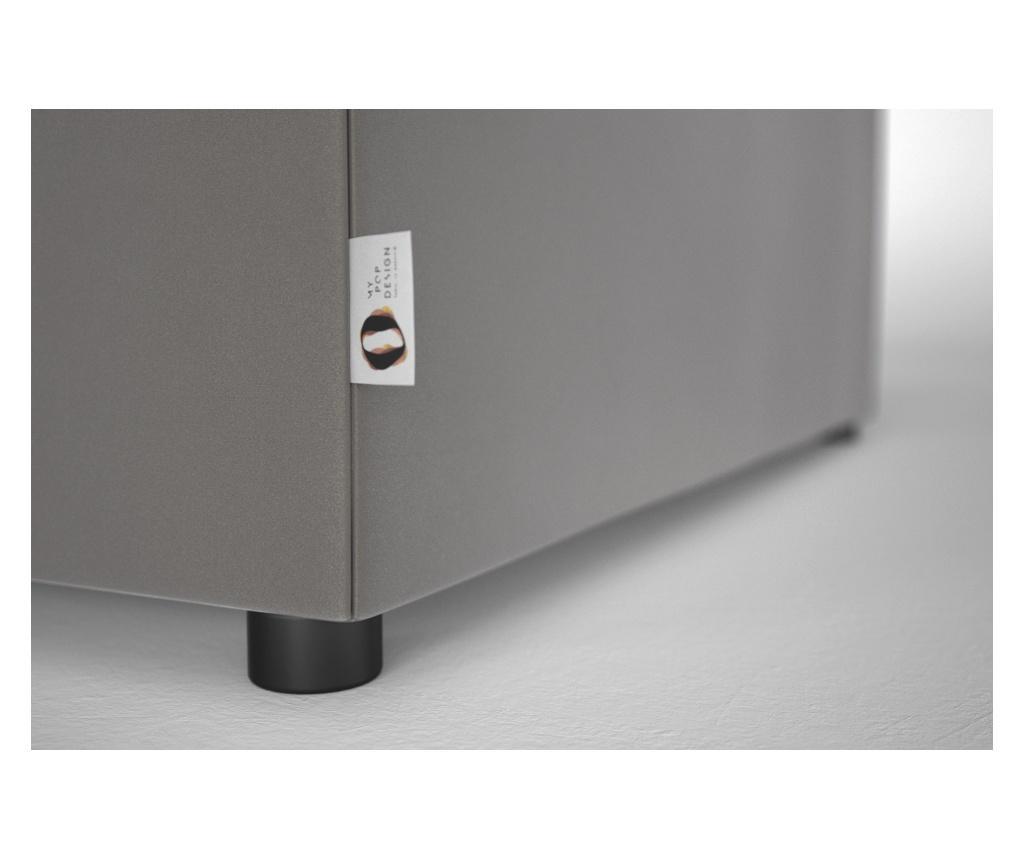 Brady 130 Uni Grey & Silver Kihúzható pad