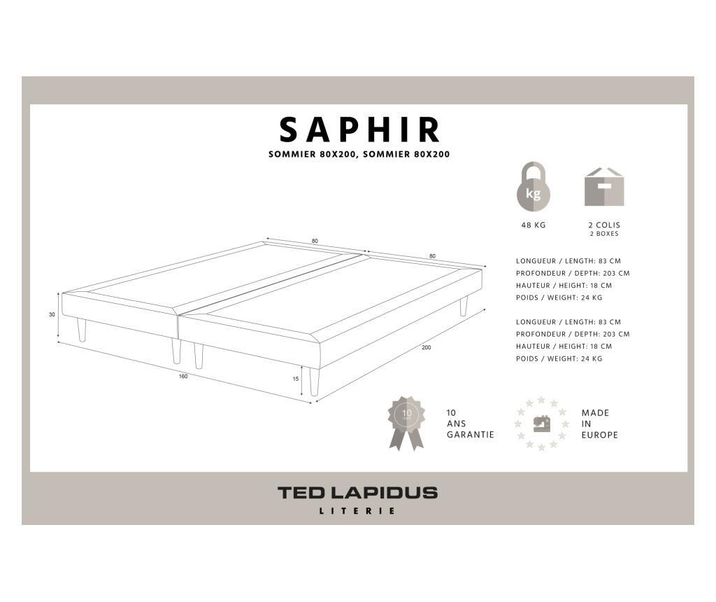 Saphir Ágykeret 160x200 cm