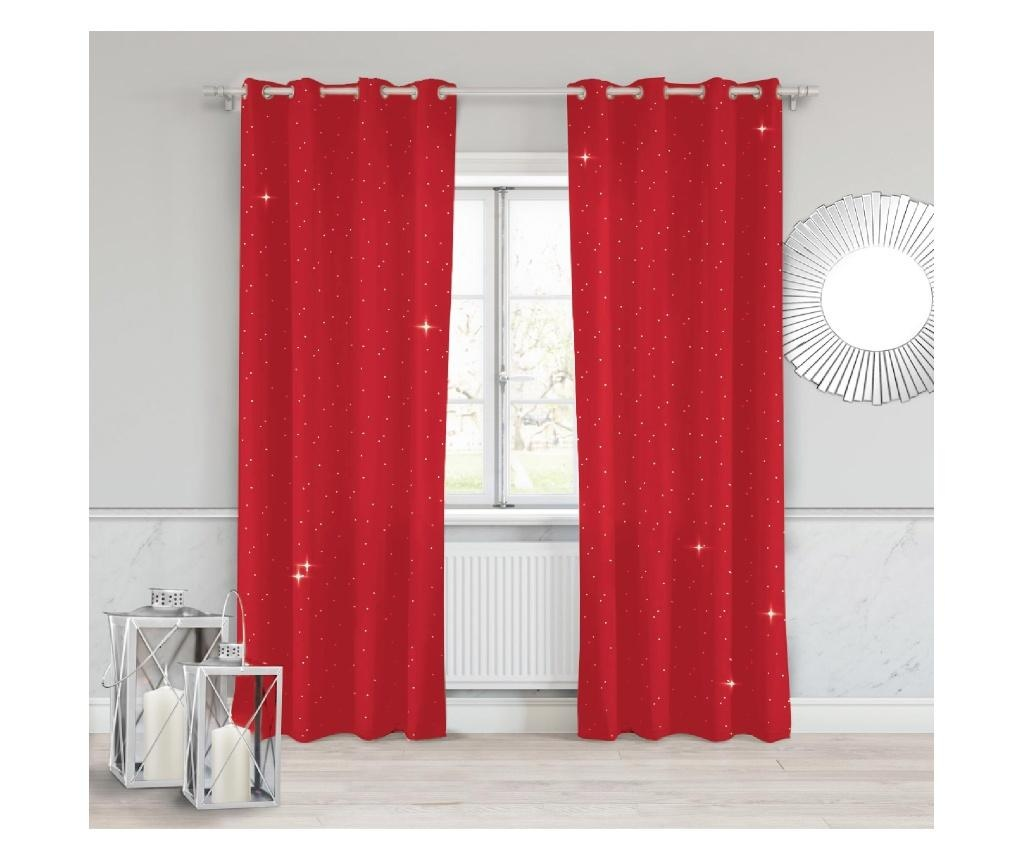 Draperie Crystal Red 140x250 cm