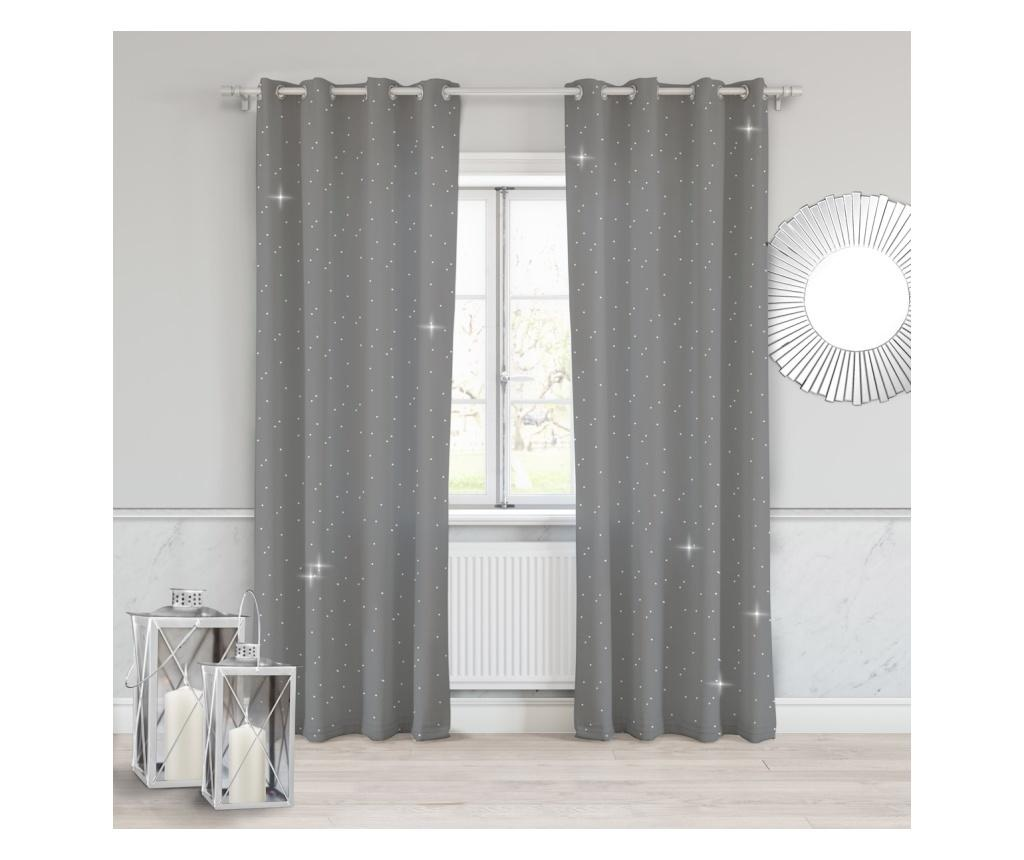 Draperie Crystal Dark Grey 140x250 cm