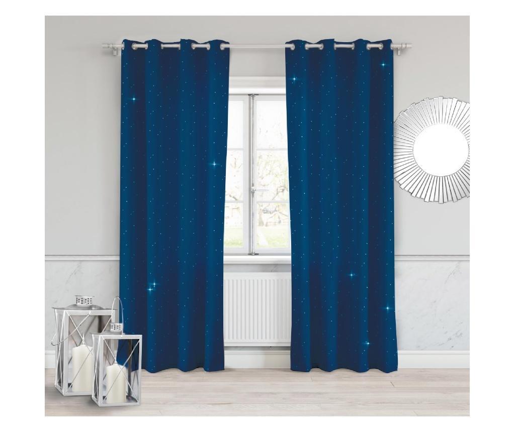 Draperie Crystal Blue 140x250 cm
