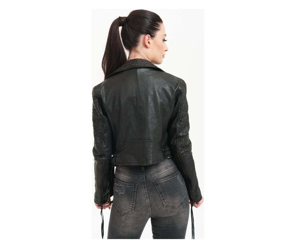 Ženska kožna jakna Raven Black M