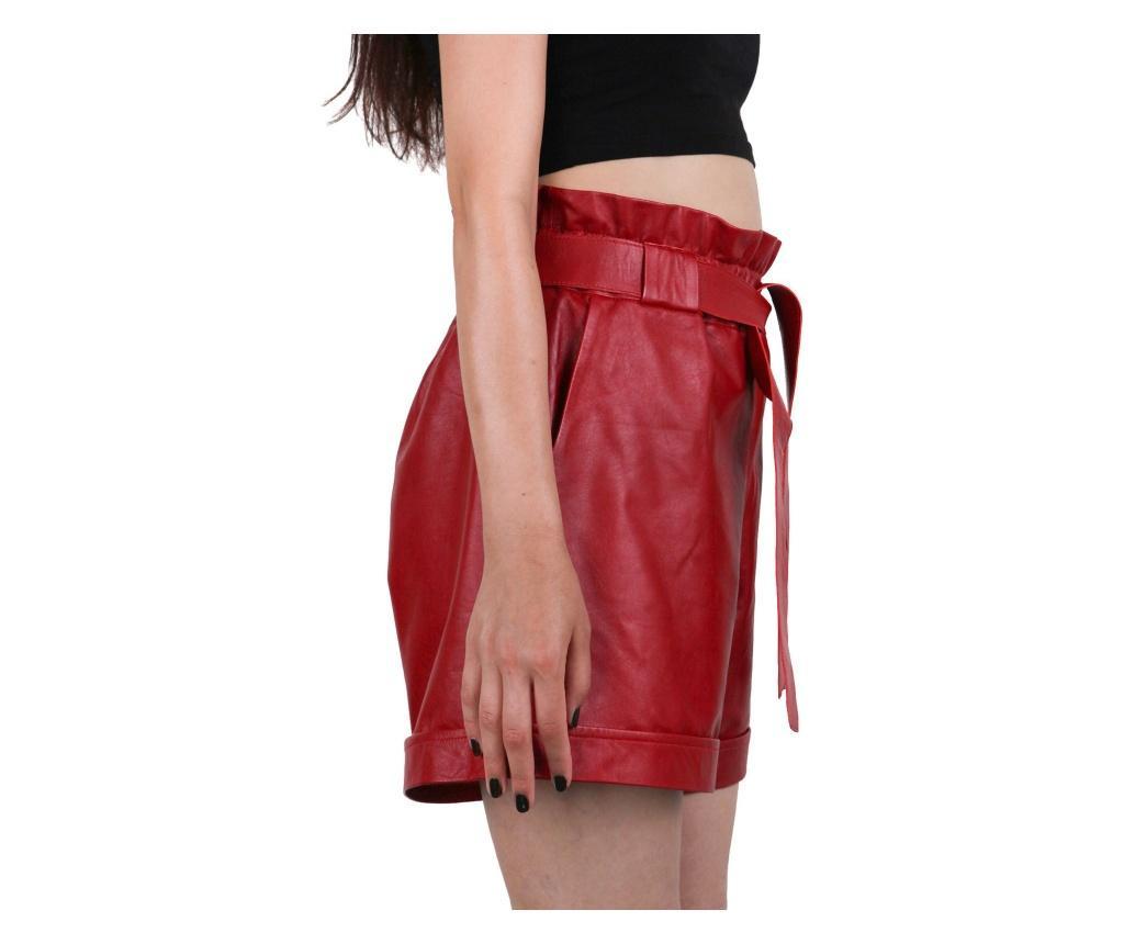 Iparelde Red Női bőr rövidnadrág L