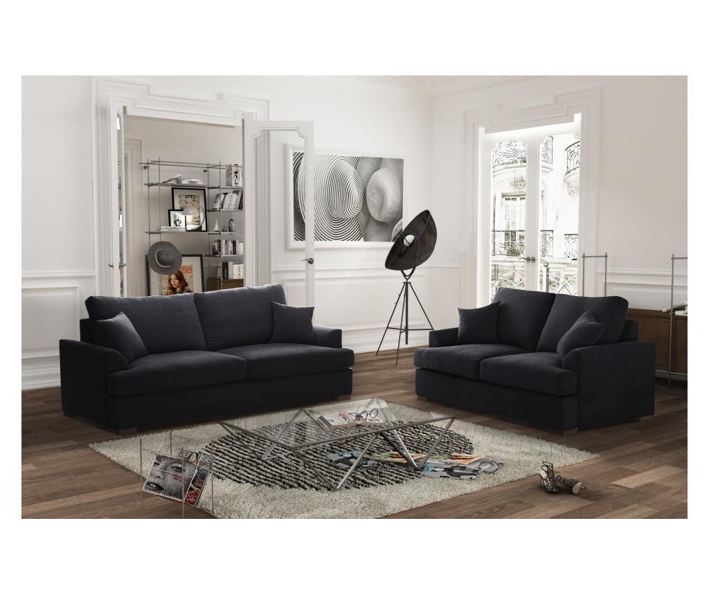 Irina Black Kétszemélyes kihúzható  kanapé