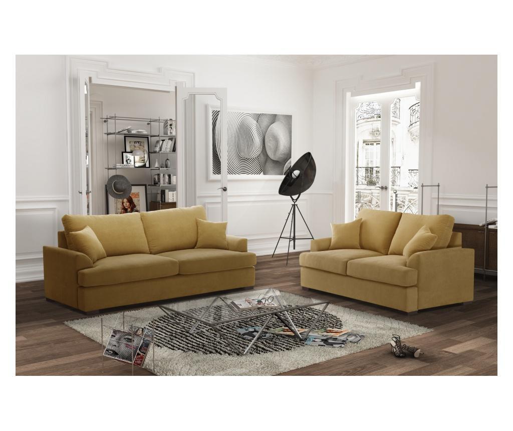 Irina Yellow Kétszemélyes kihúzható  kanapé