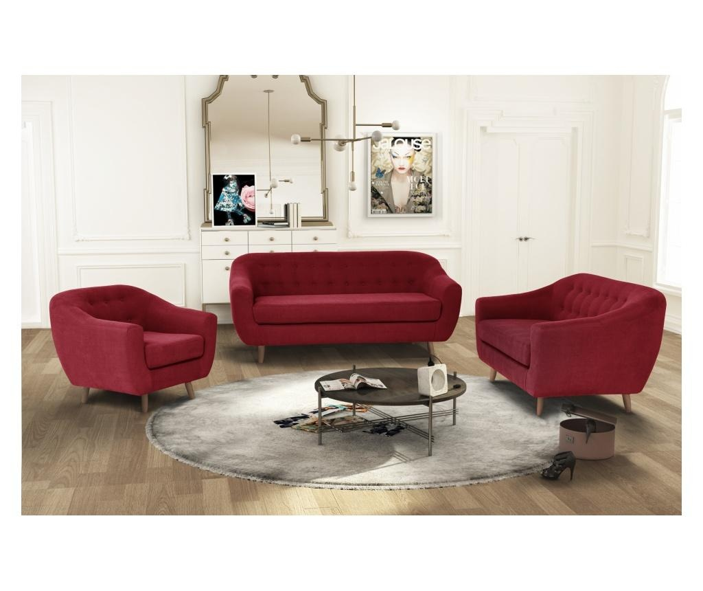Canapea 2 locuri Vicky Glamour Red