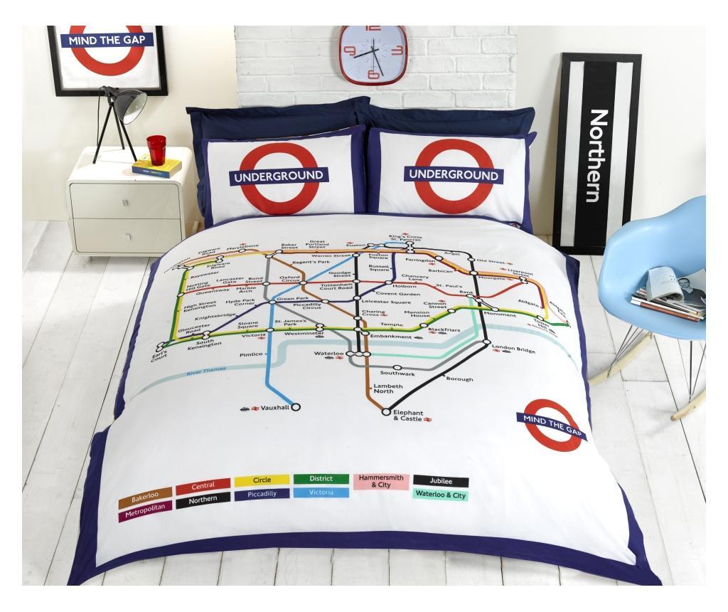 London Underground Megfordítható kétszemélyes ágynemű
