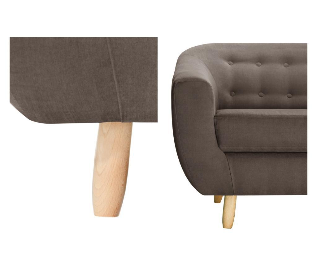 Canapea 2 locuri Vicky Chocolate