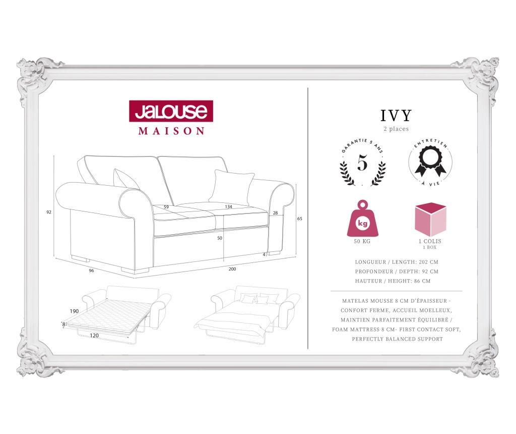 Ivy Beige Kétszemélyes kihúzható  kanapé