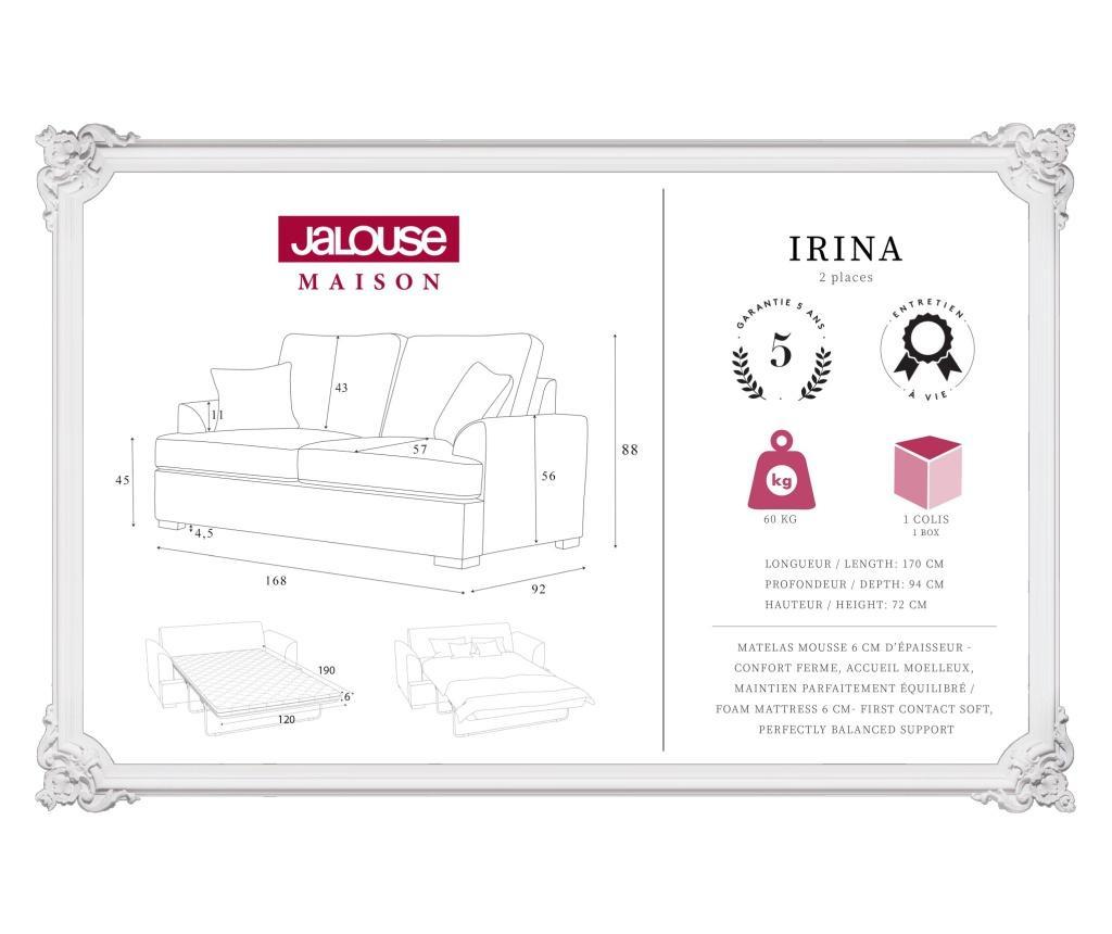 Sofa dvosjed na razvlačenje Irina Navy
