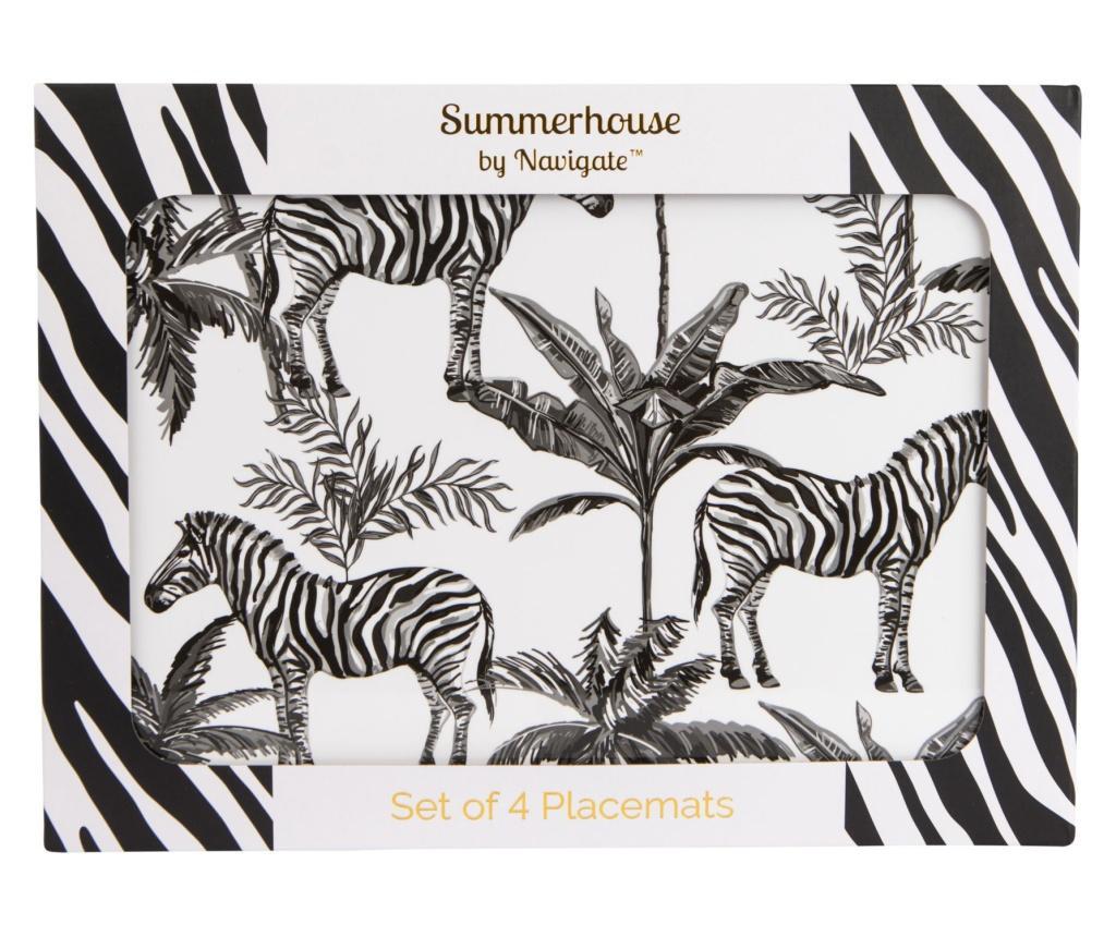 Set 4 podmetača Zebra Repeat 22x29 cm