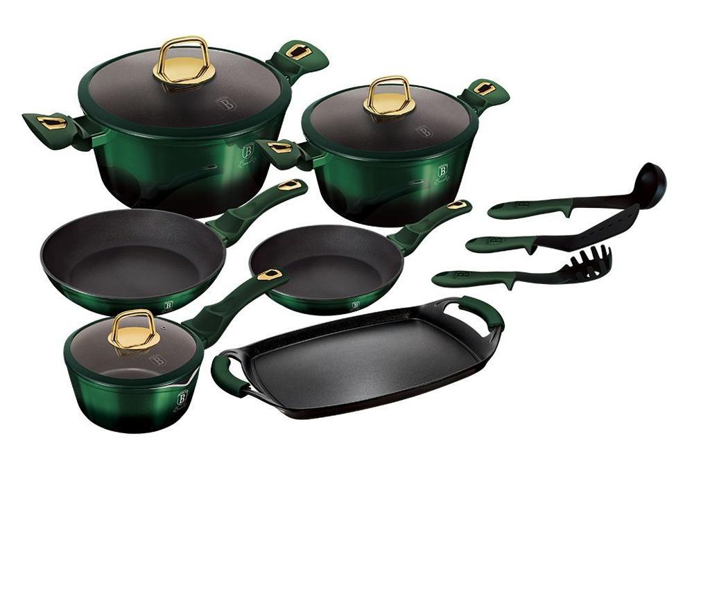 14-delni set posode za kuhanje Emerald