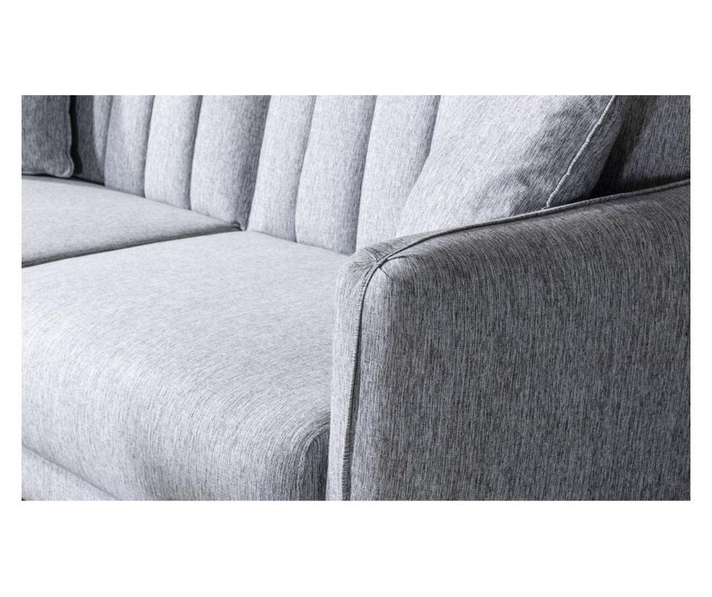 Canapea extensibila cu 3 locuri Tiffany Grey