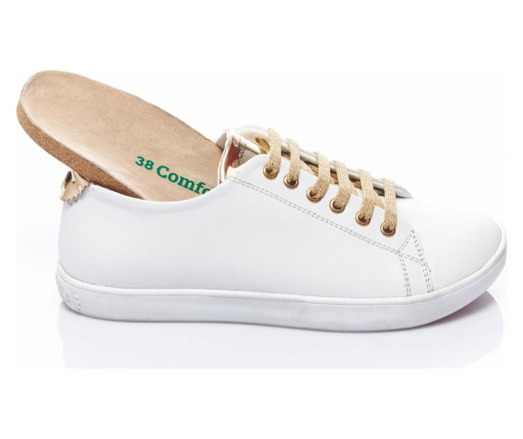 Pantofi sport dama Klara White-Gold 39