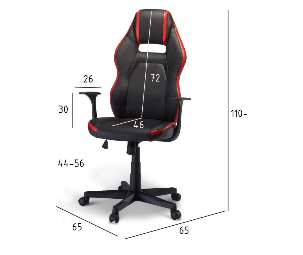 Space Red and Black Irodai szék