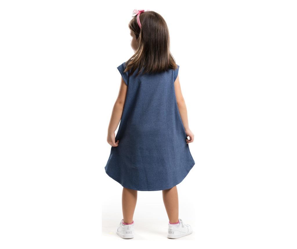 Otroški komplet - obleka in obroč za lase Pink Giraffe 4 years