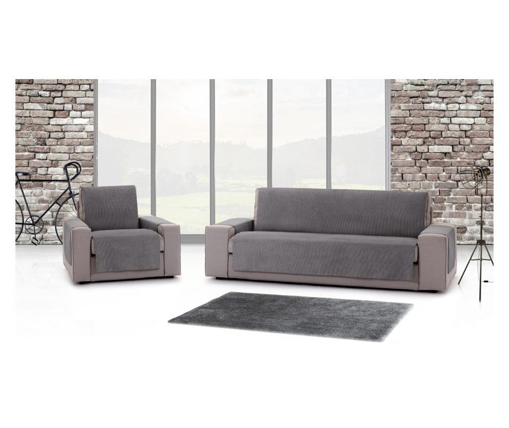 Husa pentru canapea cu 2 locuri Chenille Salva Grey 120-170 cm