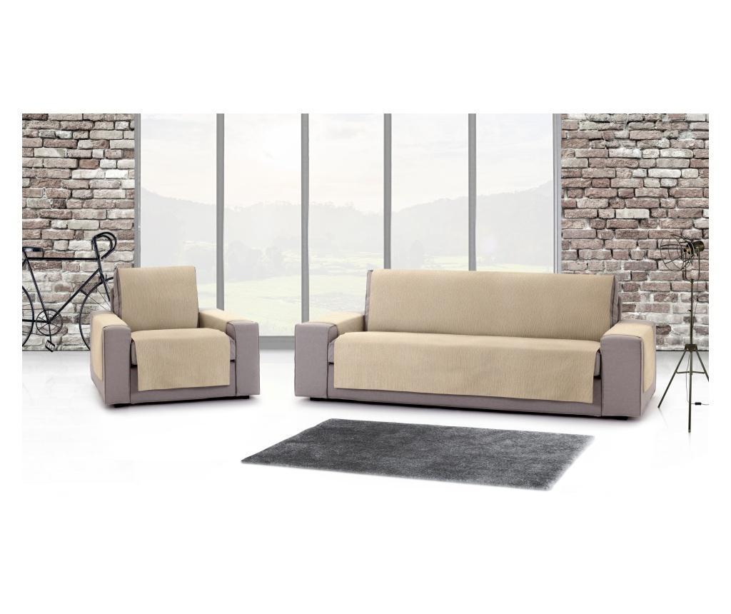 Chenille Salva Beige Háromszemélyes kanapé huzat 170-210 cm