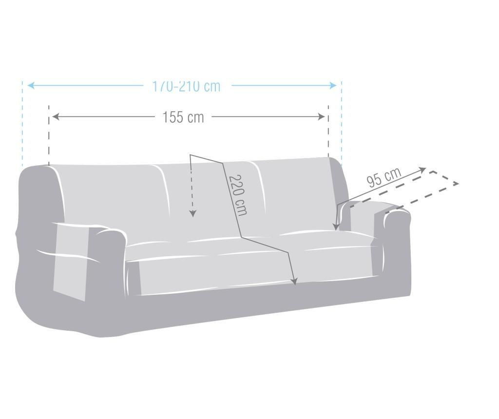 Chenille Salva Mustard Háromszemélyes kanapé huzat 170-210 cm