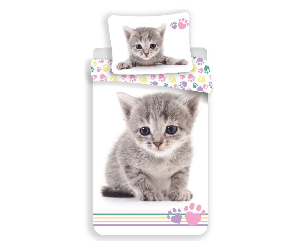 Ložní povlečení Single Ranforce Cat