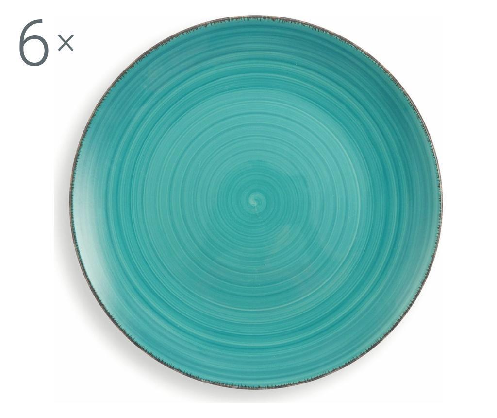 New Baita Turquoise 6 db Tányér