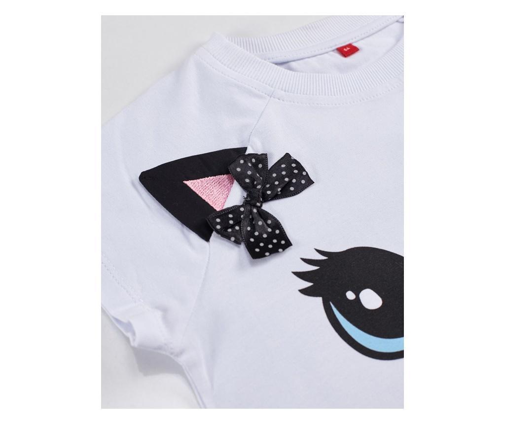 Otroški komplet - majica s kratkimi rokavi in krilo Dotted Cat 5 years