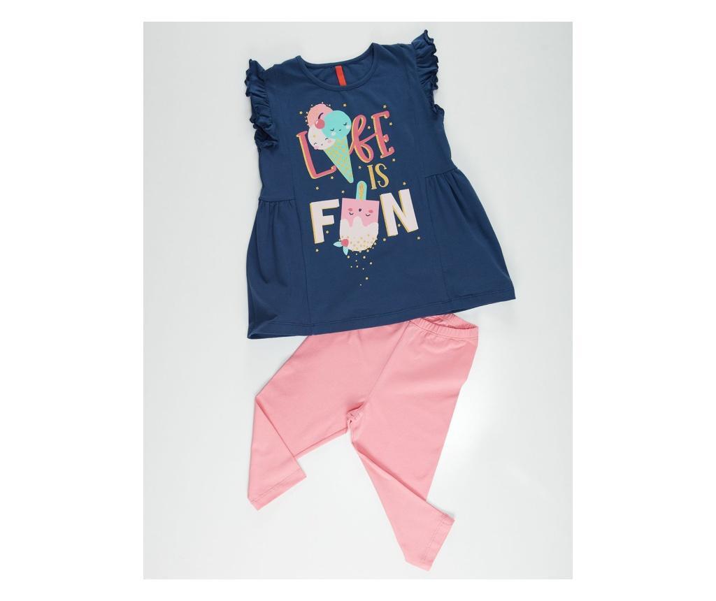 Otroški komplet - tunika in pajkice Fun Ruffled 9 years