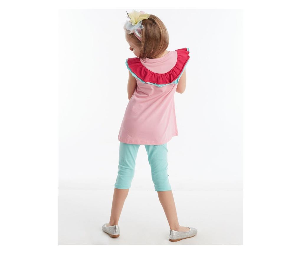 Otroški komplet - tunika in pajkice Ruffled Unicorn 6 years