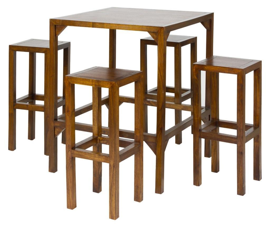 Set masa si 4 scaune de bar Cataluna