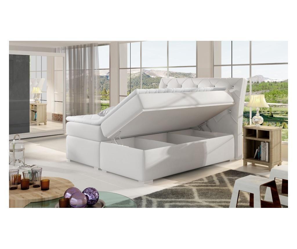 Boxspring krevet s prostorom za odlaganje Balvin Pink 140x200 cm
