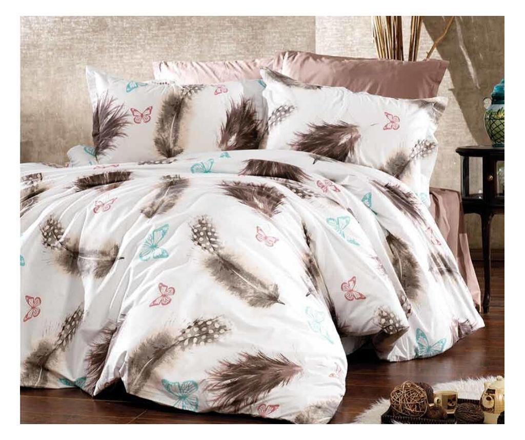 Set posteljina Single Supreme Feathers Crem
