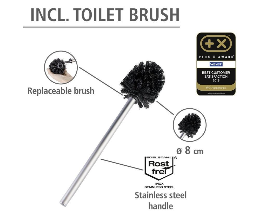 Suport pentru hartie igienica cu perie de toaleta