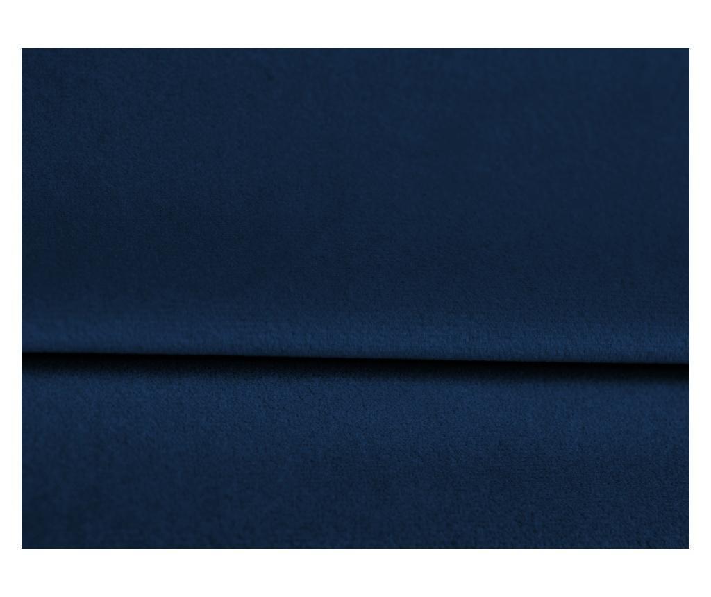 Coltar reversibil extensibil Marigold Velvet Royal Blue and Yellow Gold Four
