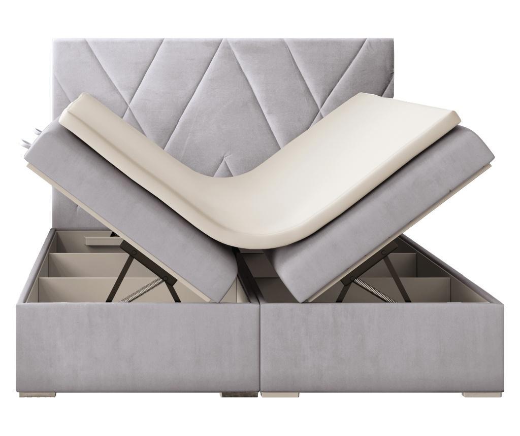 Opulance Light Grey Ágy, matrac és ágytámla 160x200 cm
