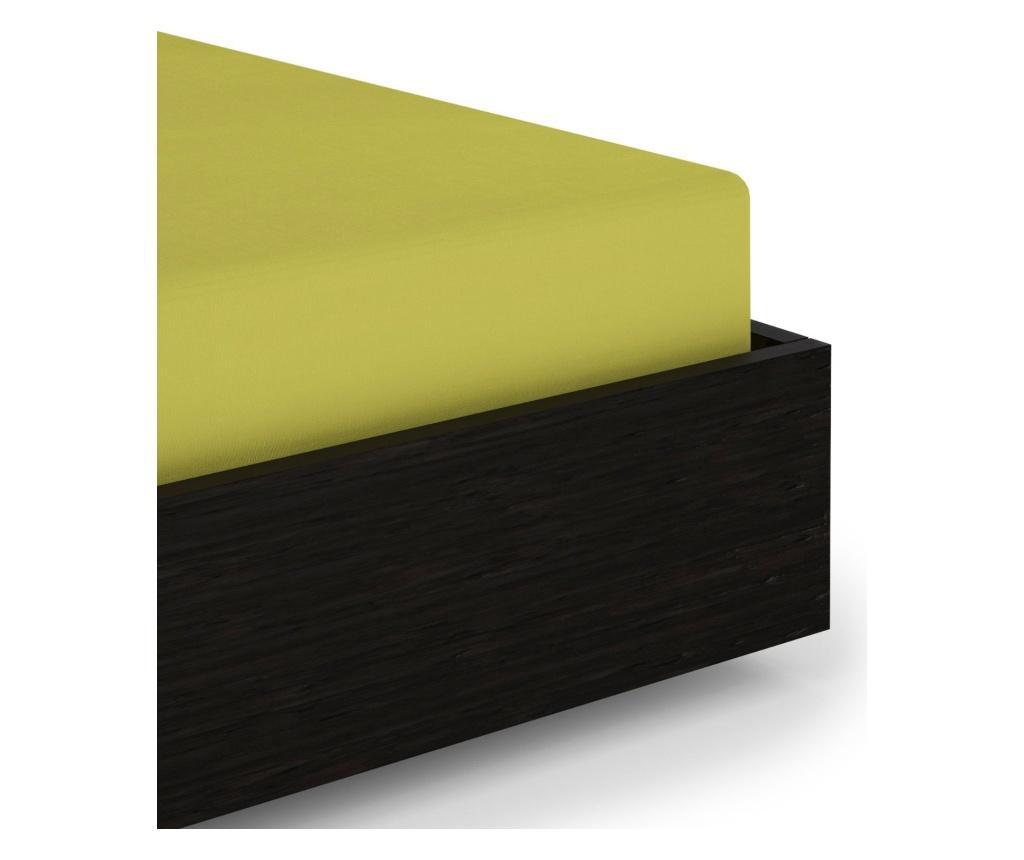 Rjuha z elastiko Percale Green Oasis 140x200 cm