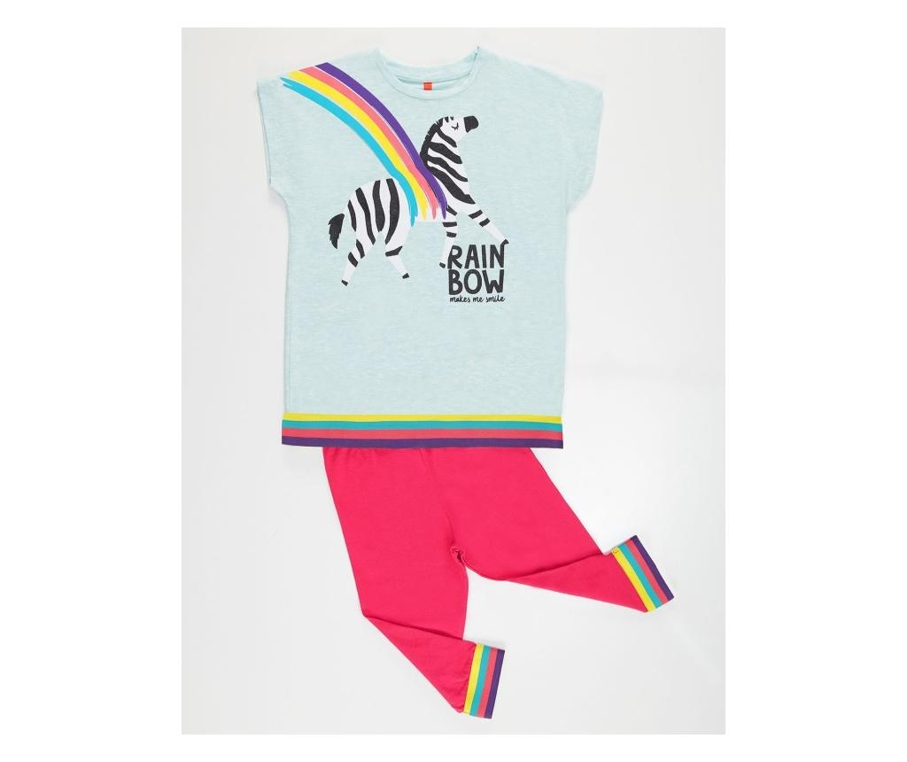 Set bluza si colanti fete Rainbow Zebra 4 years