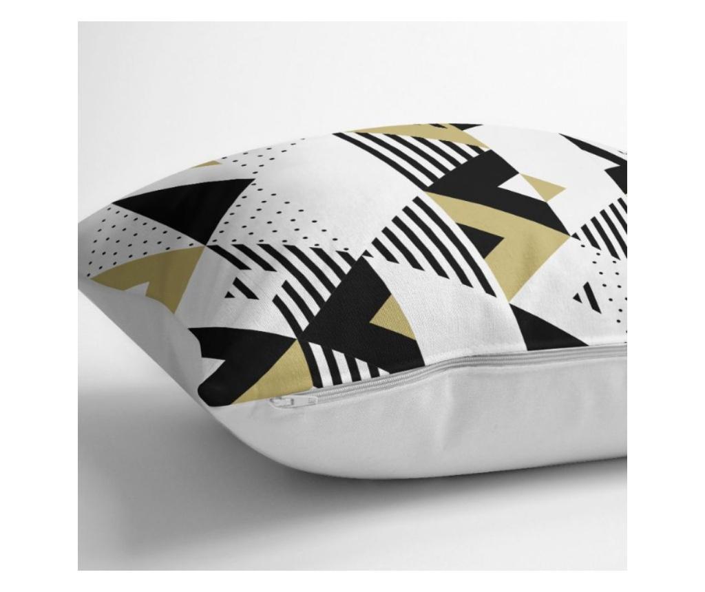 Fata de perna Mustard-Color  Geometric Şekiller 45x45 cm