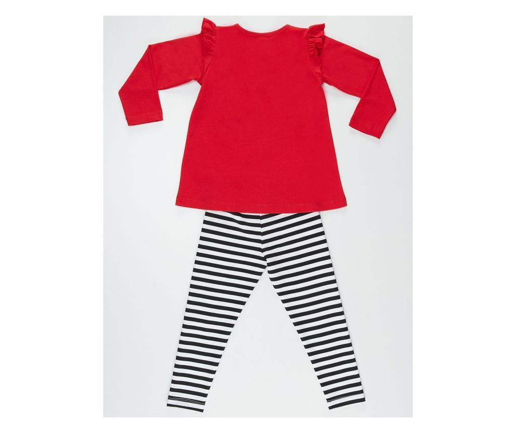 Ladybug Red  Striped Tunika és  leggings 5 years
